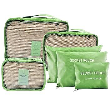 Cubos de embalaje, fokom Cubo de Viaje Organizador para maletas elementos de bolsa de almacenamiento de viajes Verde 36 x 12 x 28 cm: Amazon.es: Hogar