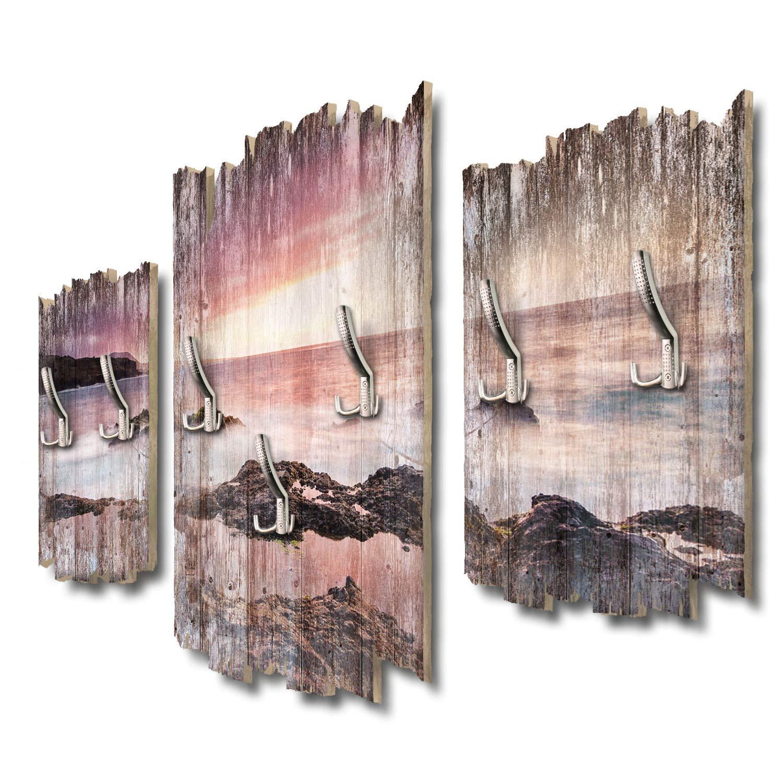 Kreative Feder Küste Teneriffa Designer Wandgarderobe Flurgarderobe Wandpaneele 95 x 60 cm aus MDF DTGH071