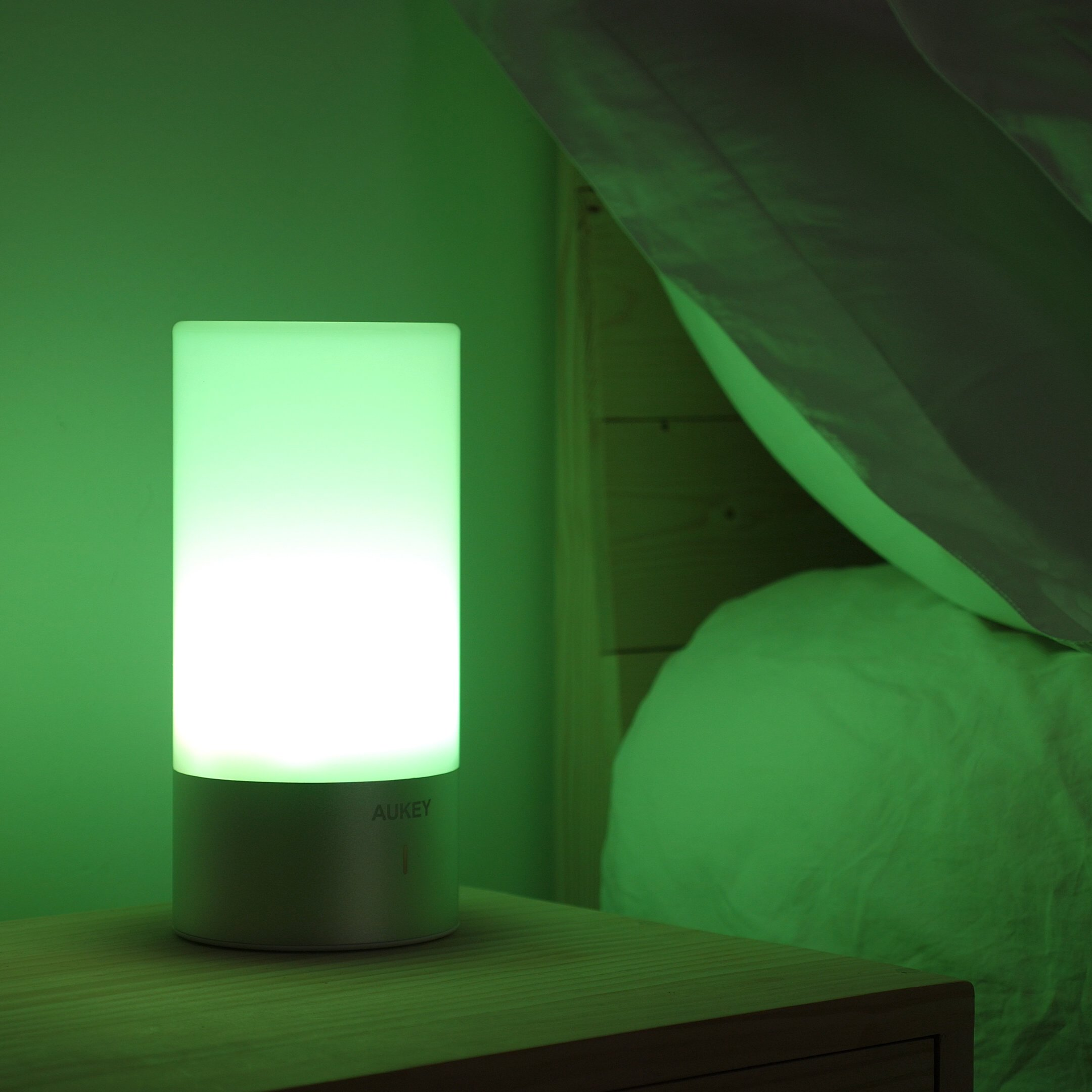 AUKEY Table Lamp, Touch Sensor Bedside Lamps + Dimmable Warm White Light & Color Changing RGB for Bedrooms by AUKEY (Image #6)