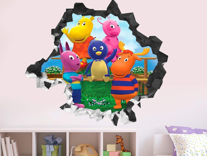 "Backyardigans Group Wall Decal Sticker - Kids Wall Decal Decor - Art 3D Vinyl Wall Decal - GS32 (Small (Wide 22"" x 16"" Height))"