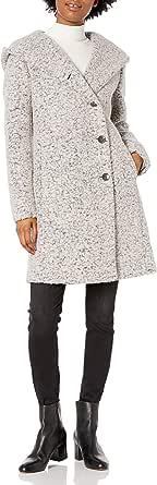 Cole Haan Women's Signature Dropped Shoulder Front Button Coat