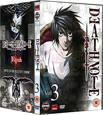 Death Note Volume 3 Episodes 17 24 Limited Edition With Ryuk