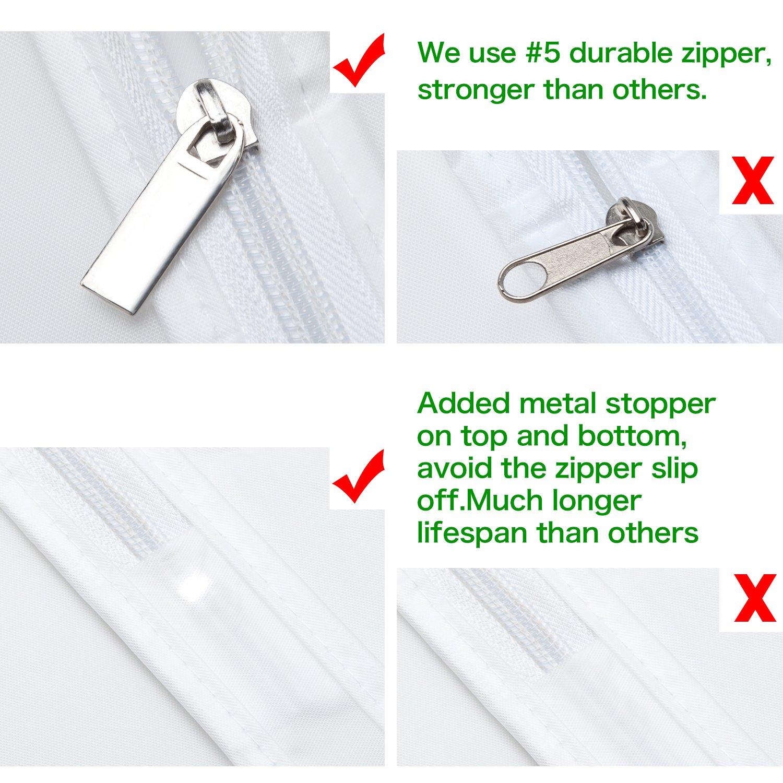 a09c83e775a Univivi Garment Bag 60 inch Suit Bag for Storage(Set of 6)