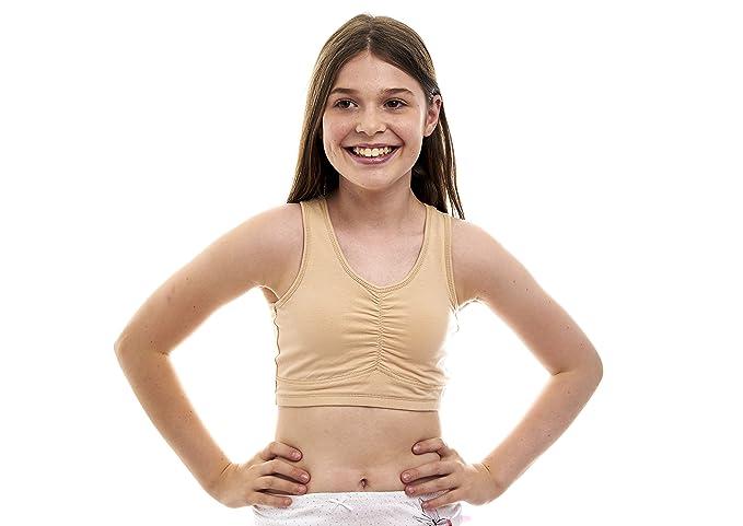 Teen in training bra