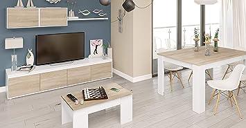 Miroytengo Pack Muebles salón Comedor Completo Color Blanco y ...