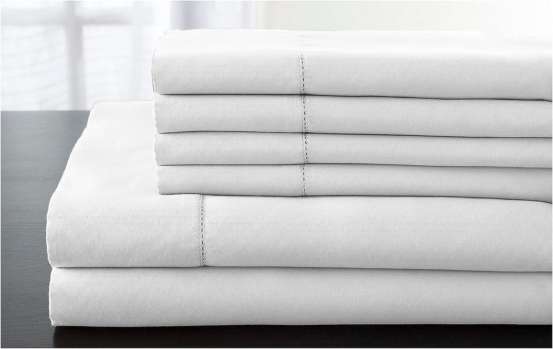 Elite Home Products Inc. Elite Home T1200 Cotton Rich Luxury Estate Bonus Sheet Set, White, King