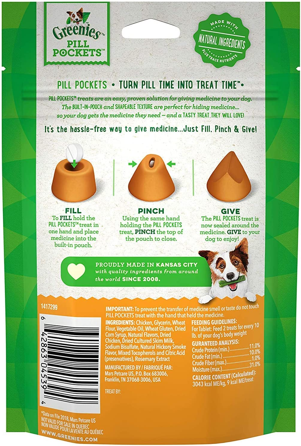 """Greenies Pill Pocket Tablet for Dogs (3 Pack) Chicken Flavored Dog Treats (90 Tablets) Bundle with """"HotSpot"""" Pets Collapsible Travel Bowl"""