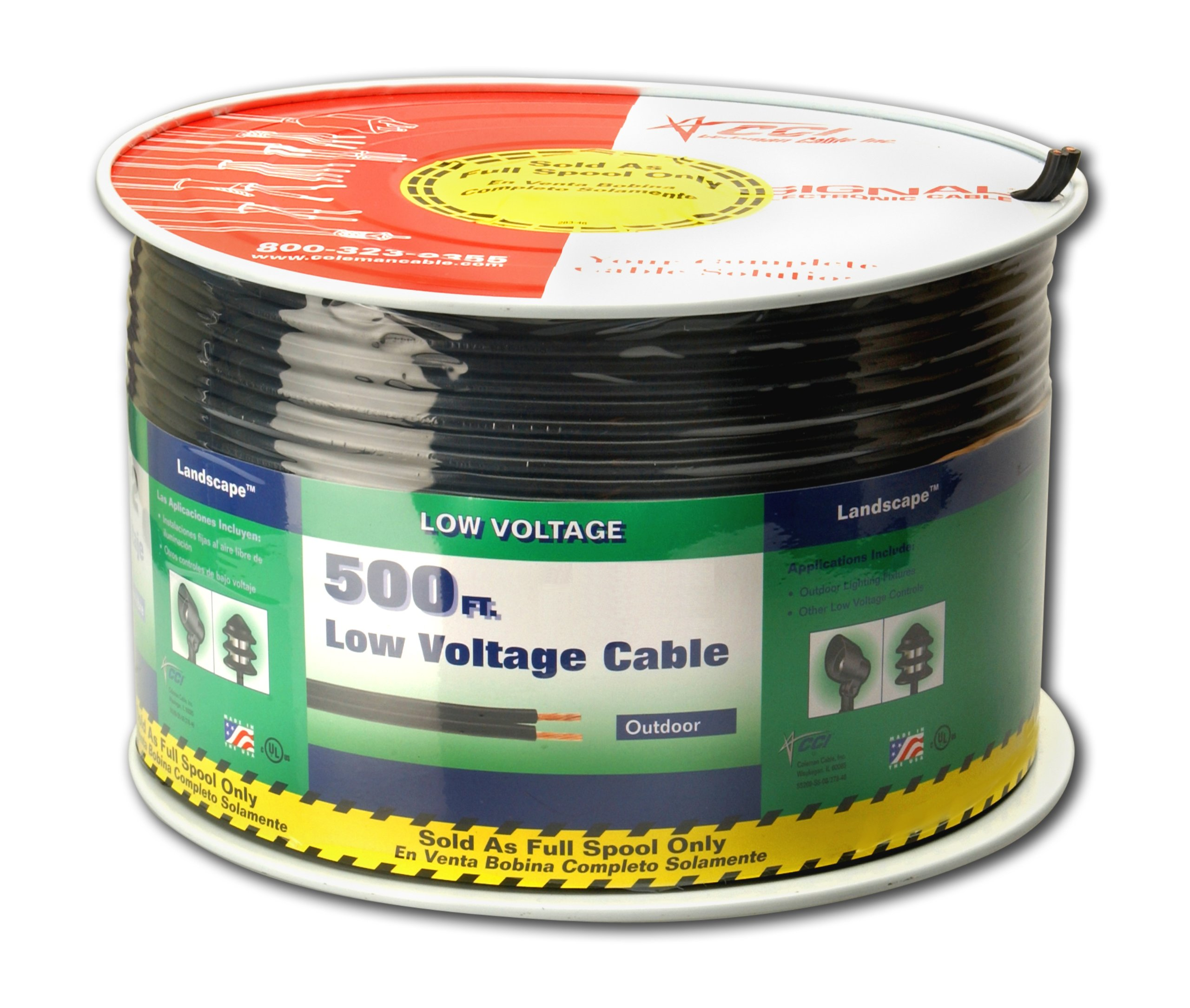Coleman Cable 552670508 14/2 Low Voltage Lighting Cable, 500-Feet