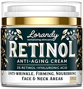 Retinol Cream for Face - Made in USA - Retinol Moisturizer Anti-Aging Cream for Women - Wrinkle Cream - Face Cream with Retinol and Hyaluronic Acid - Firming Cream for Face