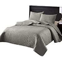 Exclusivo Mezcla 3-Piece King Size Quilt Set with Pillow Shams, as Bedspread/Coverlet/Bed Cover