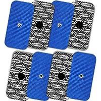 Tenspad Silver 8 elektroden met zilveren patroon voor Compex, 50x100 mm met 1 SNAP-aansluiting