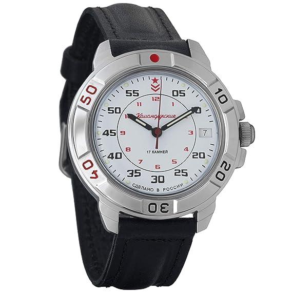 Vostok Komandirskie 2414 Reloj mecanico militar ruso #431171: Amazon.es: Relojes