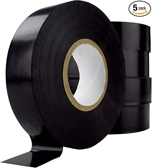 Weather-Resistant Colored Electrical Tape 60 Jumbo Roll 12 Pack by Nova Supply.