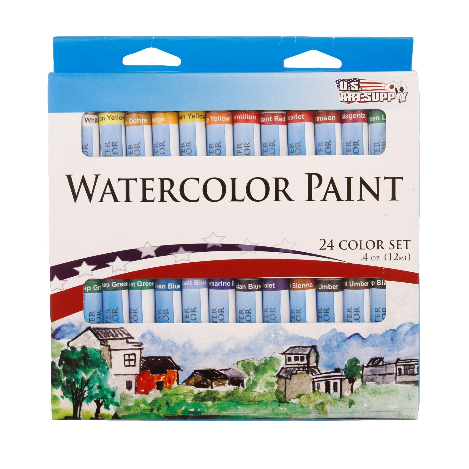 Watercolor artist magazine review - Amazon Com U S Art Supply 12ml Premium Vivid Watercolor Artist Aluminum Tube Paint Set 24 Colors