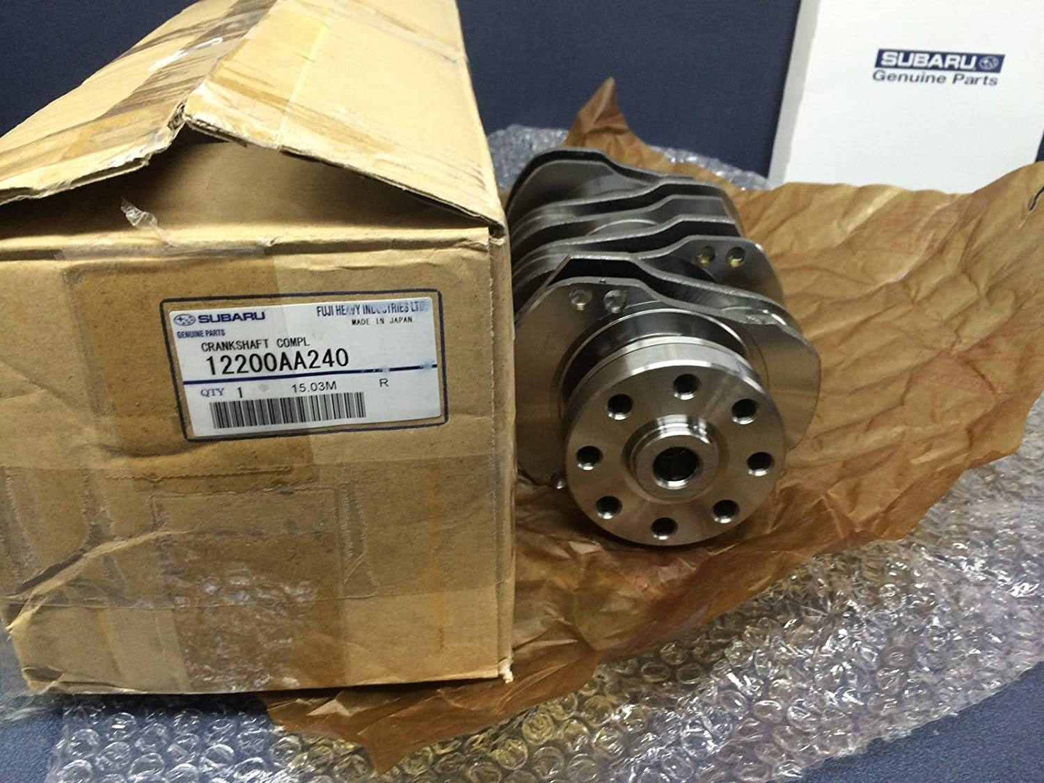 Genuine OEM Subaru Crankshaft EJ205 Impreza WRX 2.0L 12200AA240 EJ207 NEW IN BOX