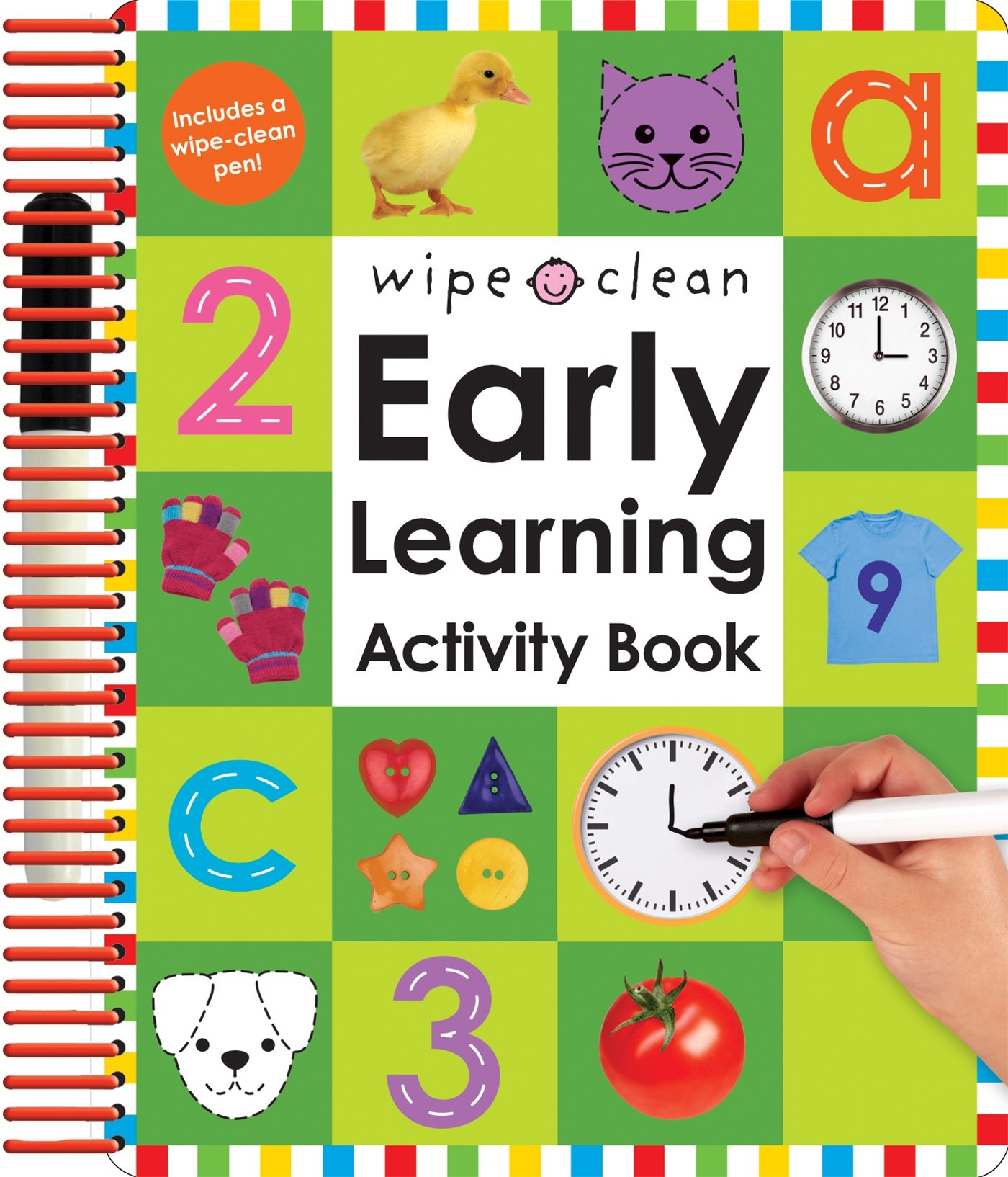 Amazon Wipe Clean Early Learning Activity Book Wipe Clean