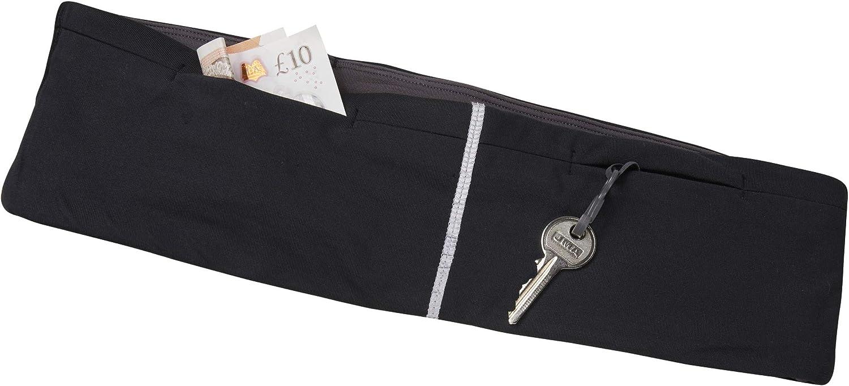 Sub Sports Core Running Belt Black MultiPocket Storage Sports Waist Bag Flipbelt