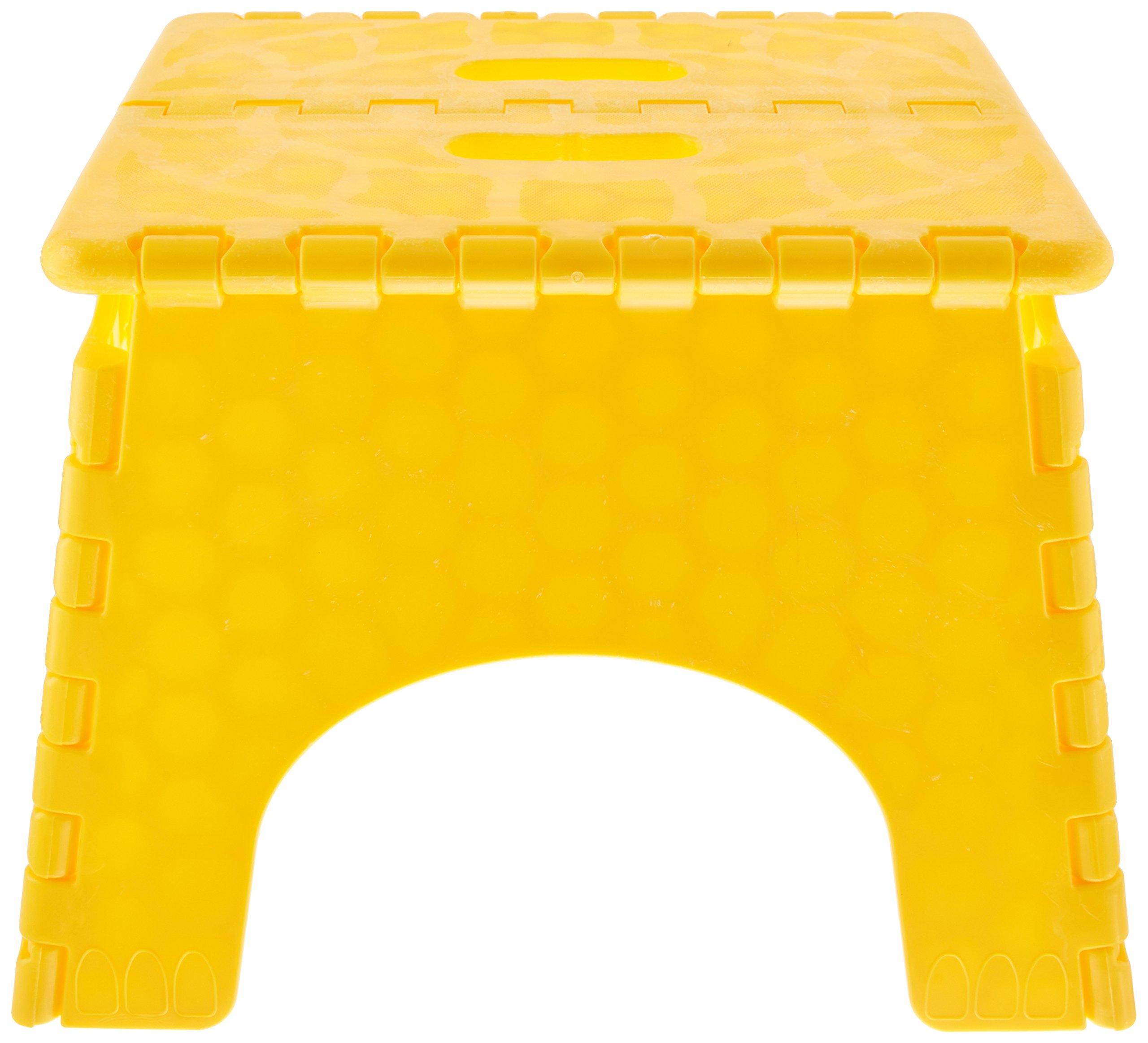B&R Plastics 1016Y E-Z Foldz Yellow Step Stool