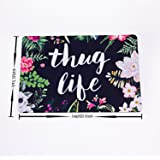 "Thug Life Flowers Doormat Entrance Mat Floor Mat Rug Indoor/Bathroom Mats Rubber Non Slip (23.6""x15.7"",L x W)"