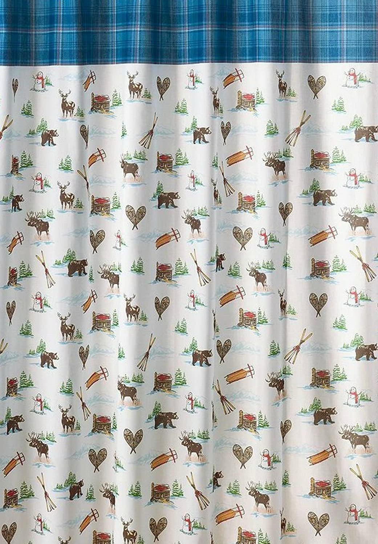 Nicholas Square Snow Friends Shower Curtain  NWT St