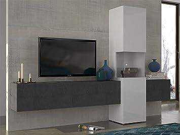 Wohnwand Mediawand Wohnzimmerschrank Fernsehschrank TV Schrank