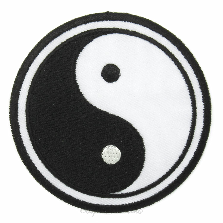 Japanese Taoism Taijitu Yin Yang Symbol Easy Fast Iron On Sew