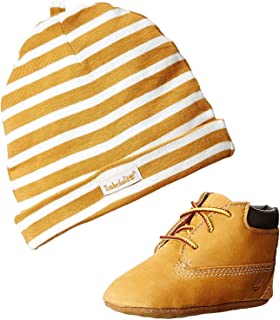 d8953167848 Timberland Baby Boy s Crib Shoes Bootie Wheat Soft Bottom 9589R Gift Set