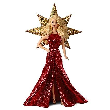 Amazon.com: Hallmark Keepsake 2017 Holiday Barbie Christmas Ornament ...