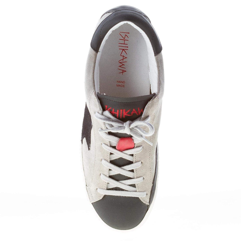 Ishikawa Uomo Sneaker camoscio Grigio più Gomma Nera Color Grigio Size 40   Amazon.it  Scarpe e borse b895687b527