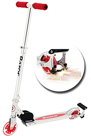 Razor patinete de + con luz Up Ruedas, Rojo: Amazon.es ...