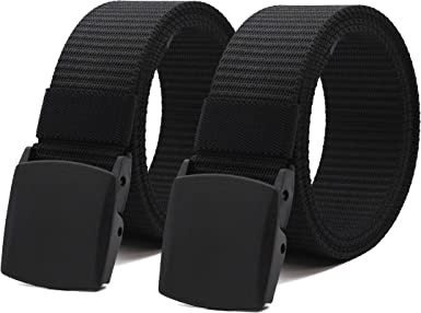 3 Pack Nylon Canvas Breathable Military Tactical Men Waist Belt With Plastic Buckle