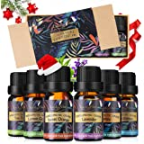 Essential Oils Set, Luckyfine Premium Aromatherapy Oil Gift Set, Premium Therapeutic Grade Oil Kit of Top 6 Oils- Breathe, Immunity, Refresh, Relaxation, Decompression, Sleep 10ml