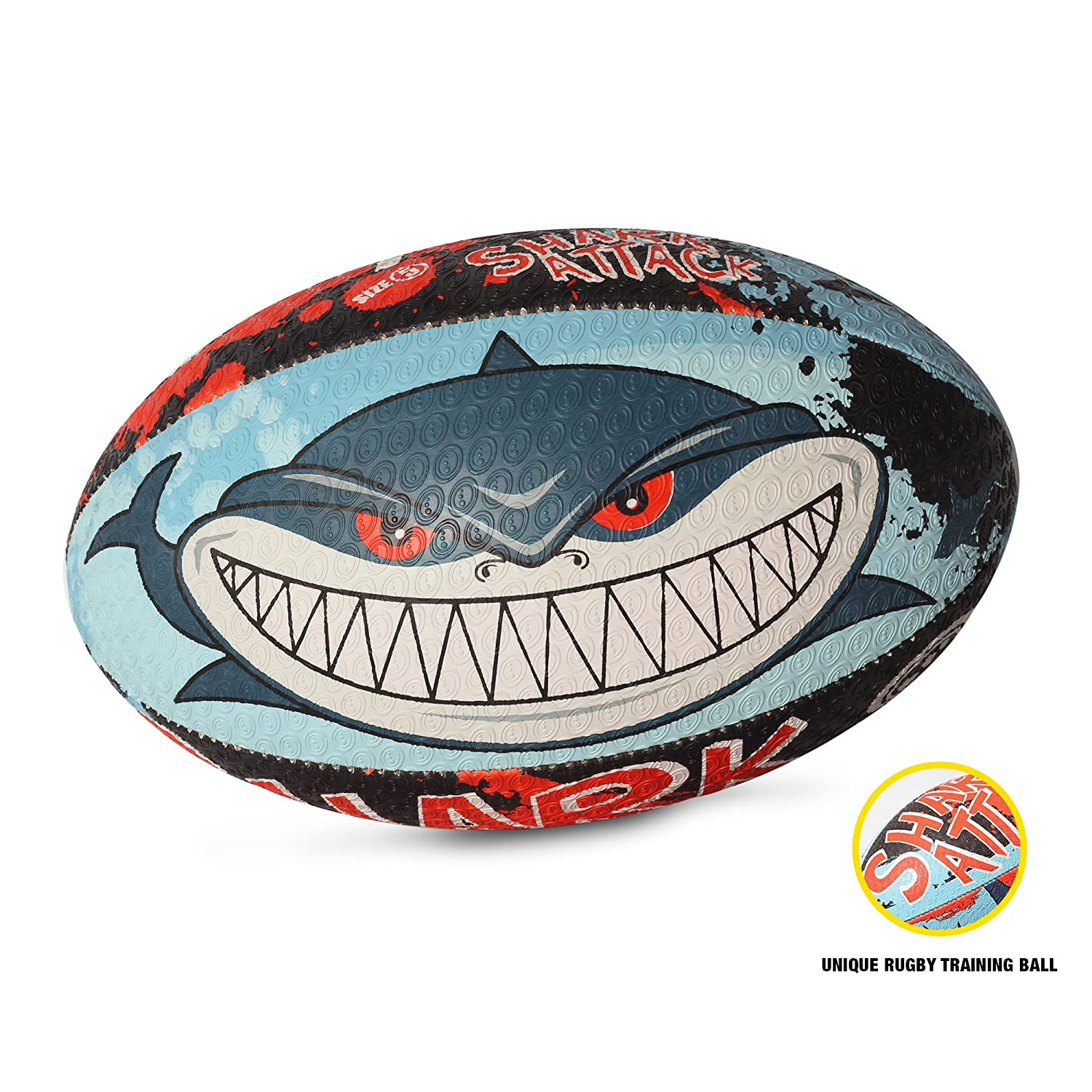 Optimum Veste de Shark Attack Midi Ballon de Rugby