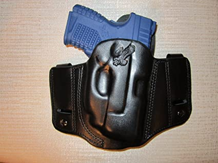 REVERSIBLE RIGHT HAND  pancake holster IWB OR OWB XDS 3.3 WITH RED CT LASER