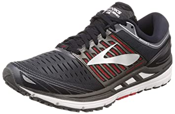 a948e2befc7ab Brooks Men s Transcend 5 Road Running Shoes Ebony Black Red - 11D