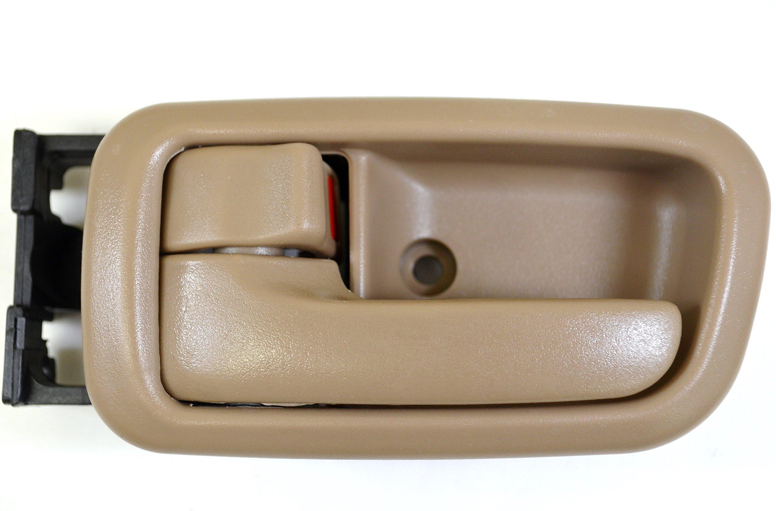 PT Auto Warehouse TO-2950B2-FLS - Inside Interior Inner Door Handle/Trim, Brown (Oak) - Regular/Extended Cabs, Driver Side Front