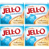 Jell-O, Cook & Serve, Sugar Free Vanilla, 0.8oz Box (Pack of 4)