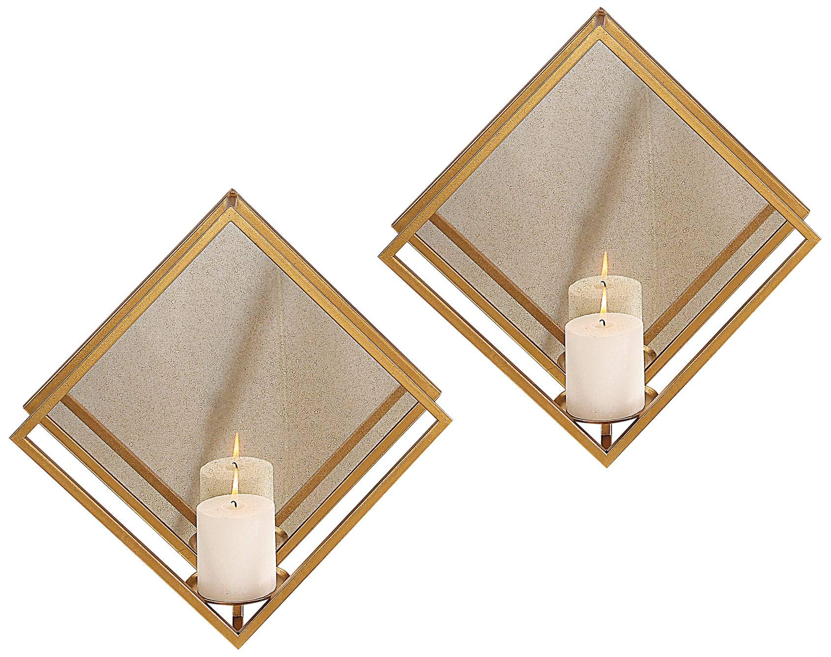 Uttermost Zulia 16'' High Candle Wall Sconce Set of 2