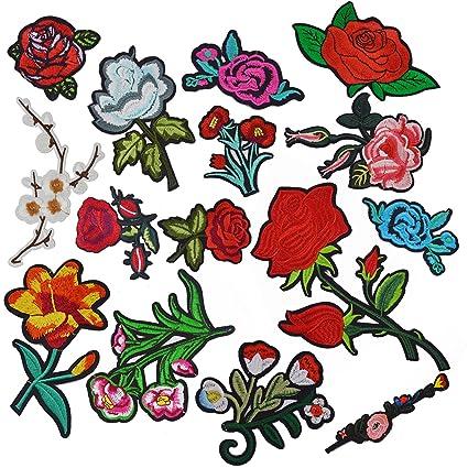 flower iron on patches amazon