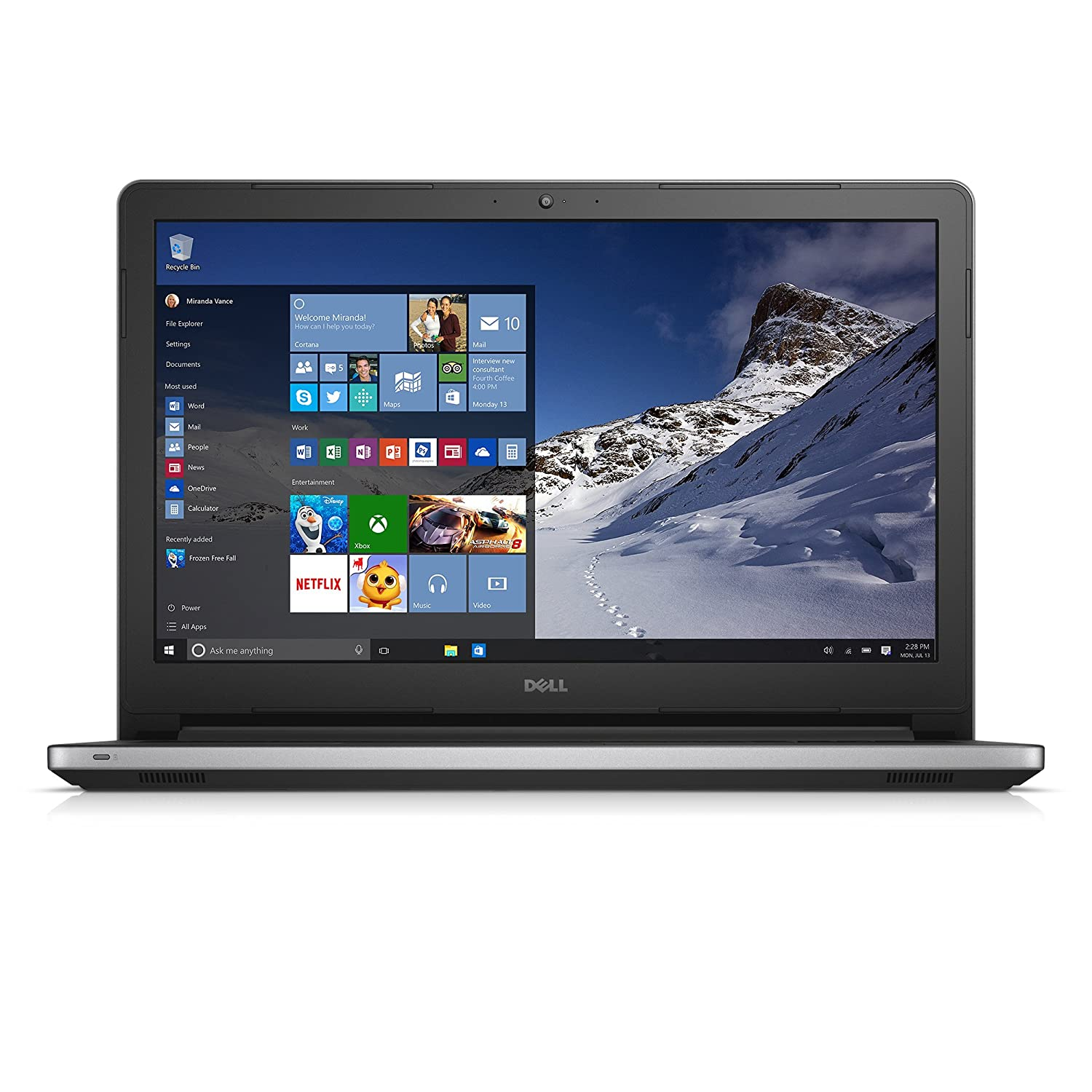 Dell Inspiron 15 5000 Series FHD 15 6 Inch Laptop (Intel Core i7 5550U, 16  GB RAM, 1 TB HDD, Silver) Integrated Intel HD Graphics [Discontinued by