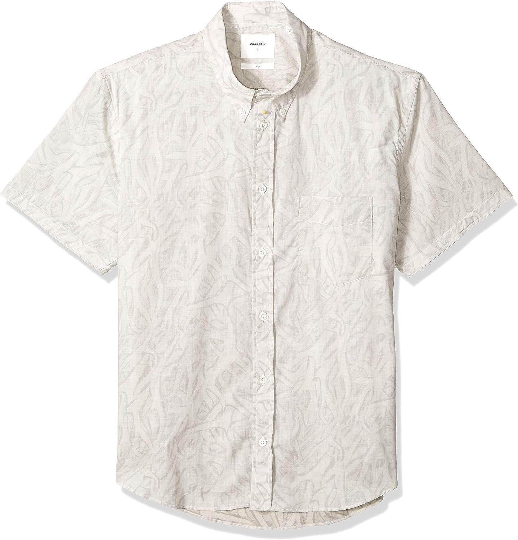 Billy Reid Mens Slim Fit Short Sleeve Kirby Shirt