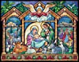 Stained Glass Nativity Advent Calendar (Christmas Countdown Calendar)