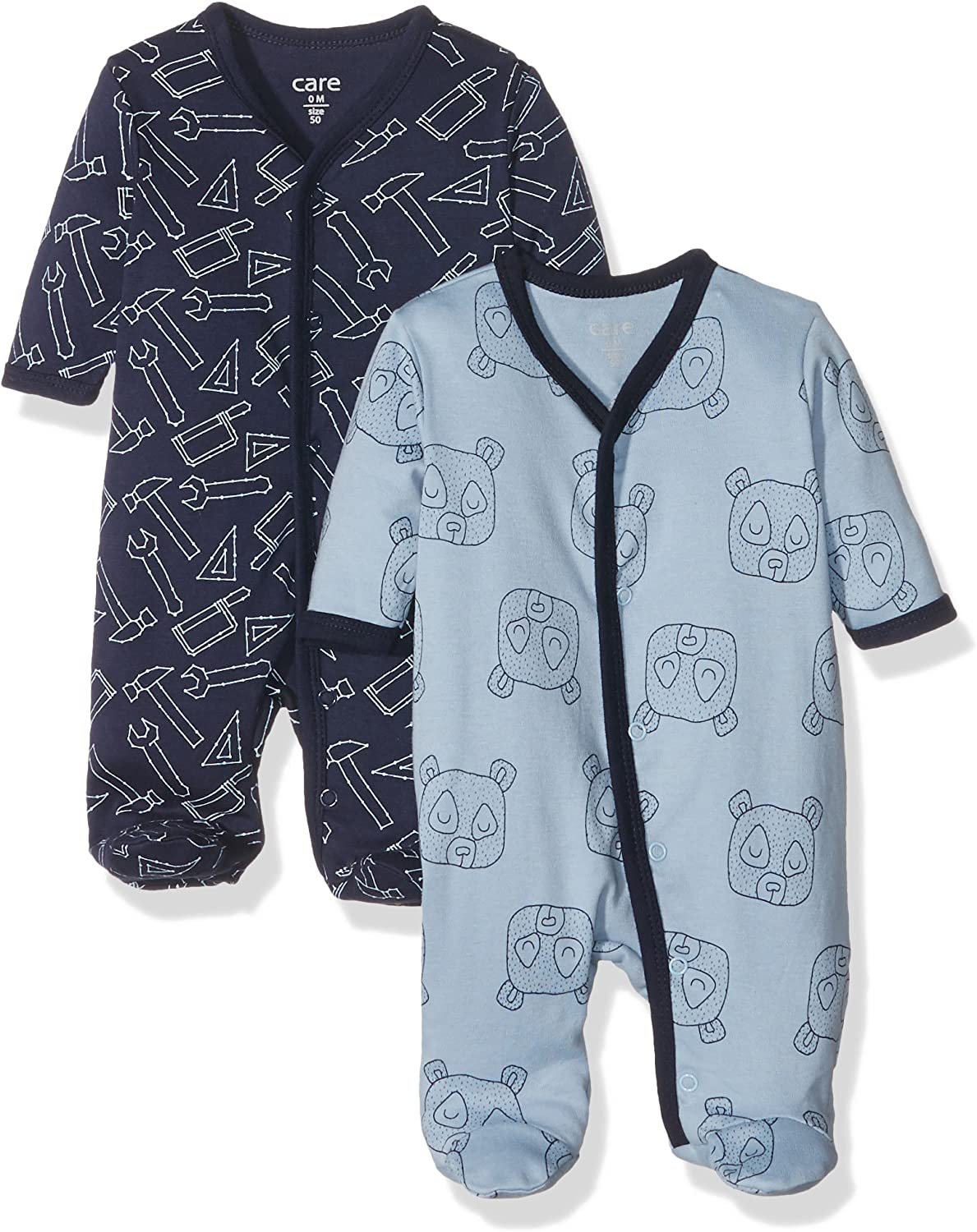 Amazon Exclusiva: Care Pijama para Bebé Niño, Pack de 2