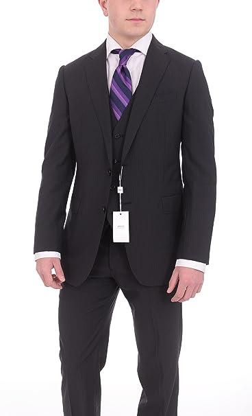 Amazon.com: Armani Collezioni M-Line Slim Fit 38R 48 Negro ...