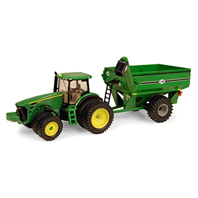 Ertl John Deere 8320R Tractor With J & M Grain Cart, 1:64 Scale: Toys & Games