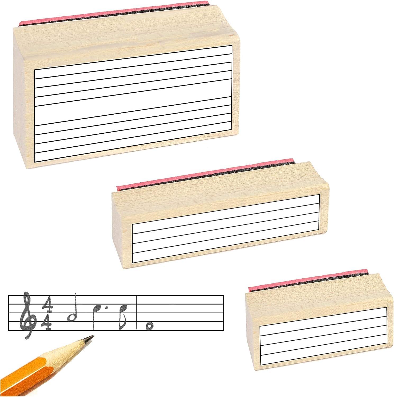3/utile Tampons en caoutchouc et Noir Tampon encreur de Musique Personnel Tampon en caoutchouc Cadeau Lot.