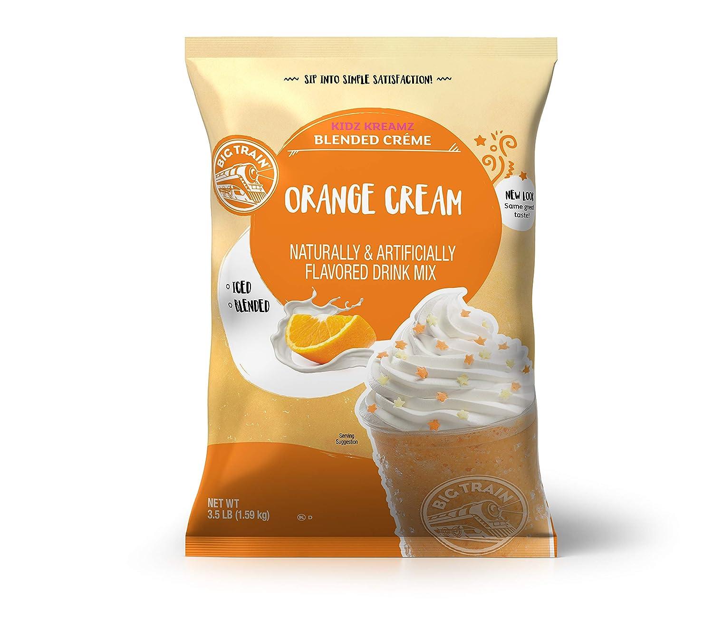 Big Train Kidz Kreamz Blended Creme Drink Mix, Orange Cream, 3.5 Pound