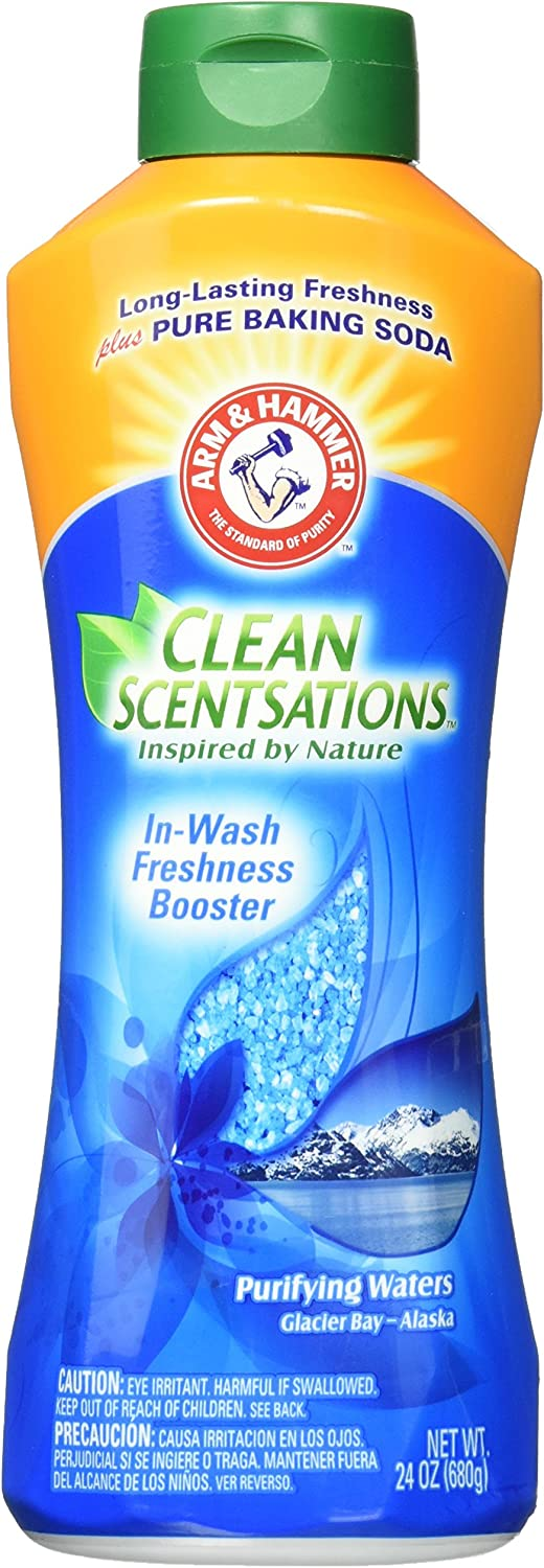 Arm & Hammer Clean Scentsations In-Wash Freshness Booster, Purifying Waters, 24 Oz