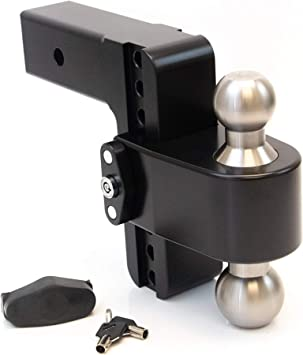 2 /& 2-5//16 Weigh Safe LTB6-3-KA Keyed Alike Key Lock and Hitch Pin Stainless Steel Combo Ball 6 Drop 180 Hitch w// 3 Shank//Shaft Adjustable Aluminum Trailer Hitch /& Ball Mount