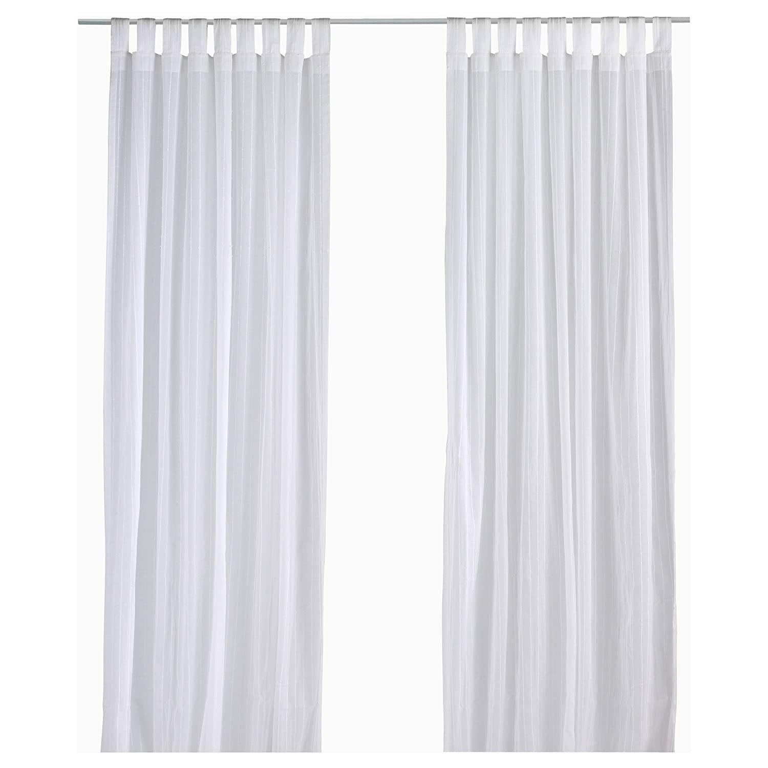 Amazon.com: Ikea Matilda Sheer Curtains 1 Pair, White: Home & Kitchen